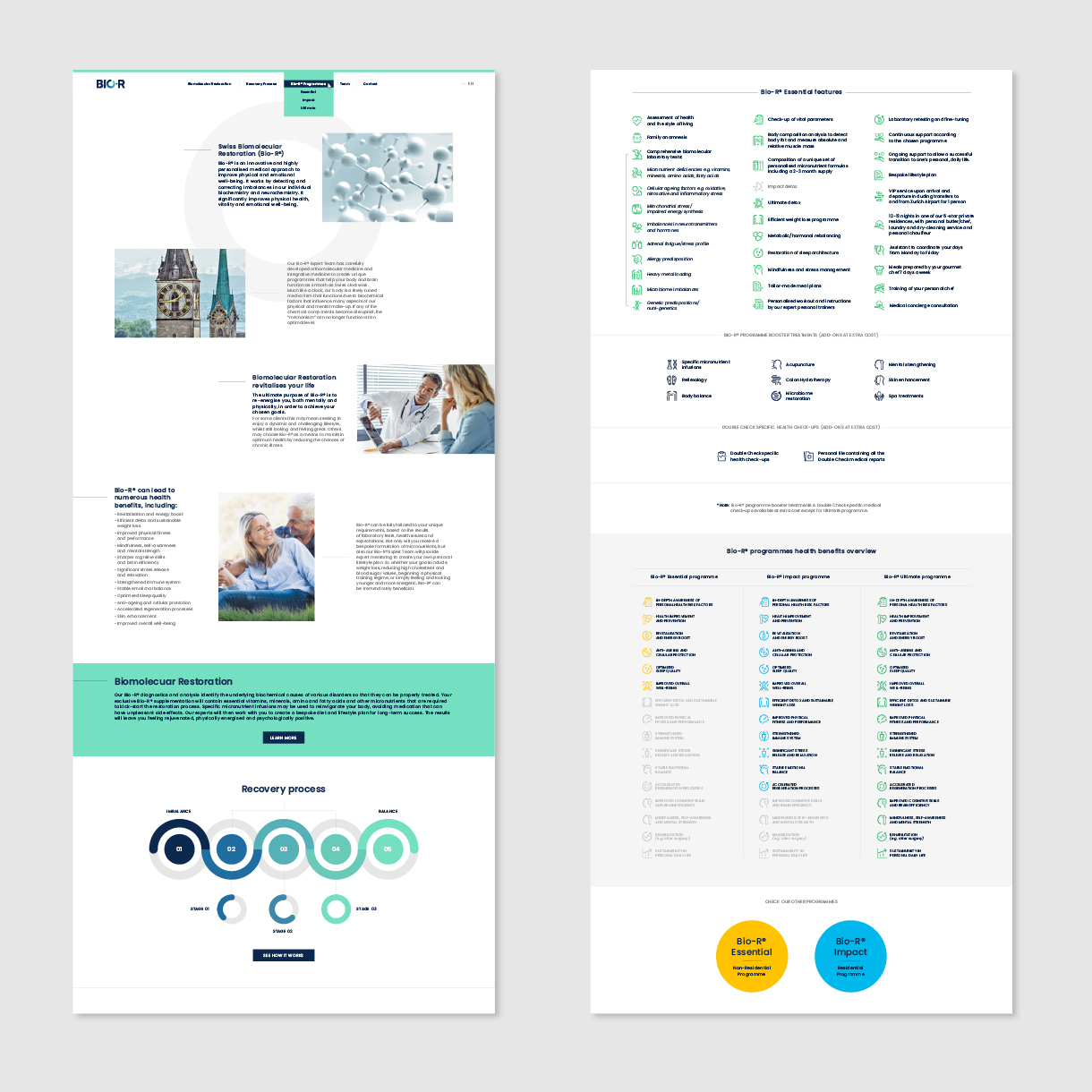 bior - website layouts