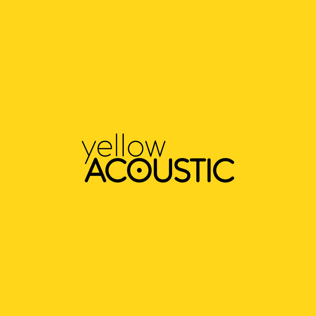 Yellow Acoustic - Logo design