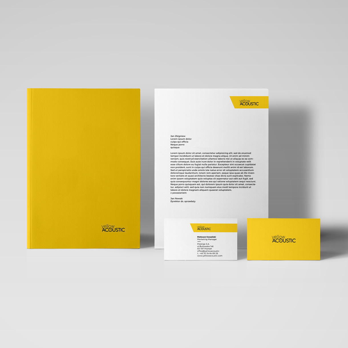 Yellow Acoustic - Visual identity