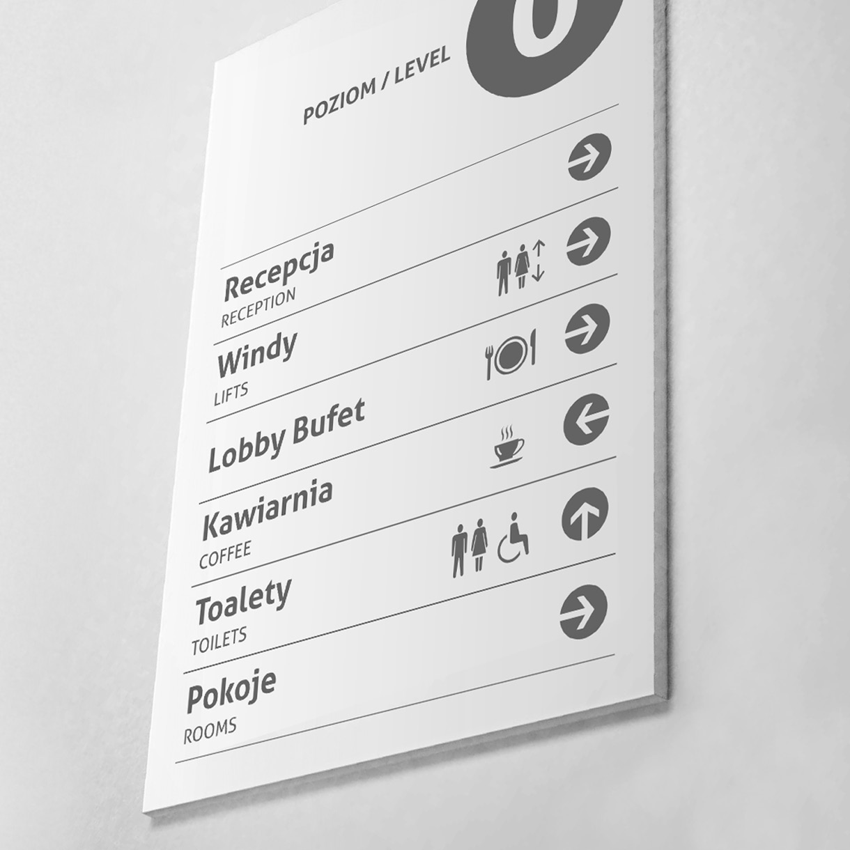 Focus Hotel - Directions sign