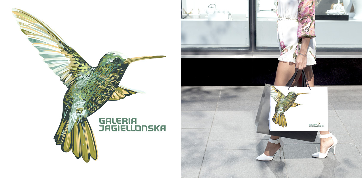 galeria jagielonska - logo and paper bag