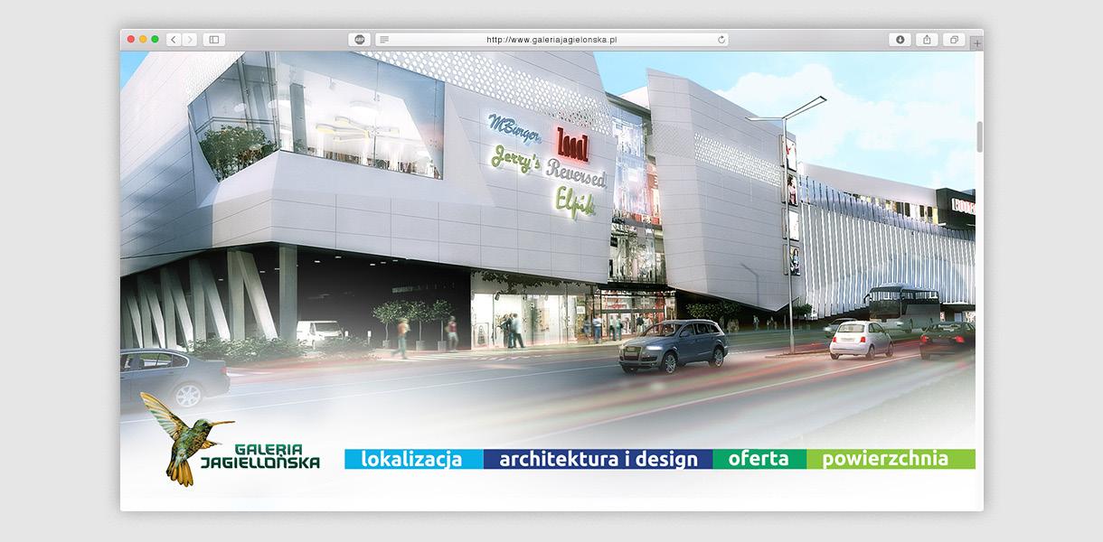 galeria jagielońska - website project