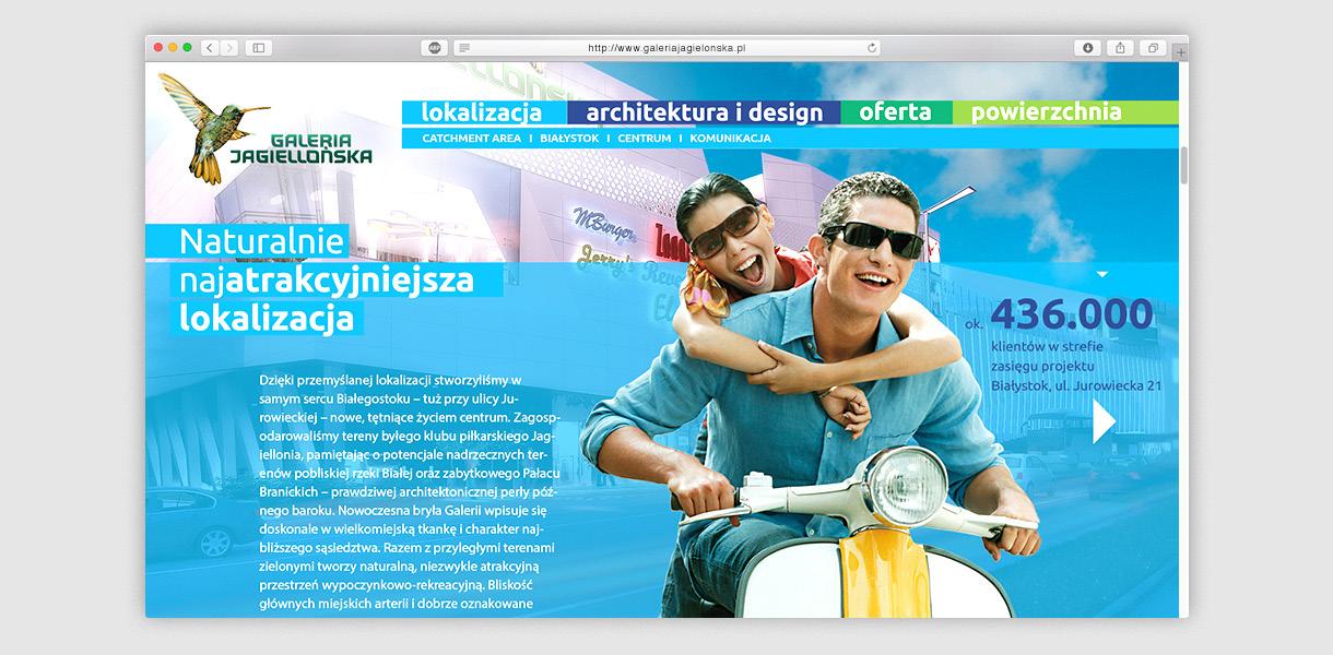 galeria jagielońska - website layout