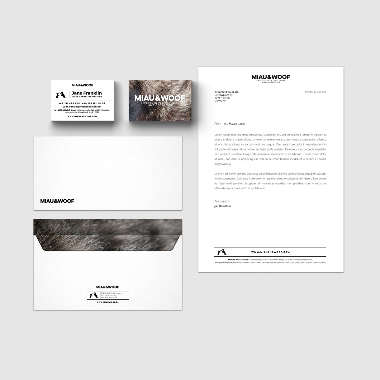 b&m - business cards