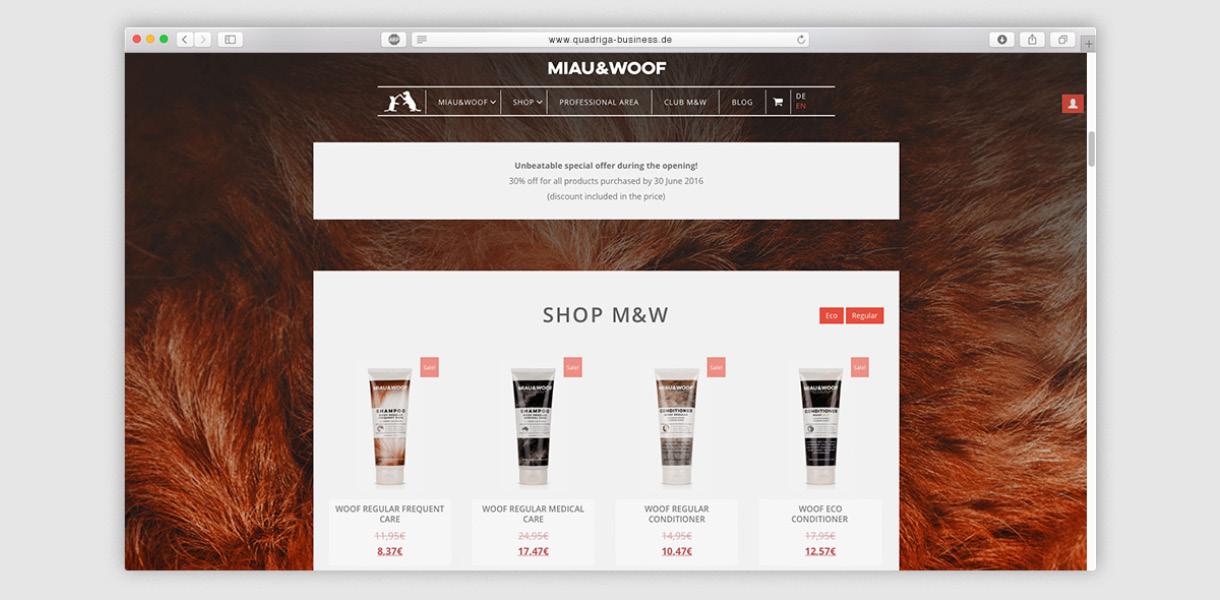 b&m - website layout