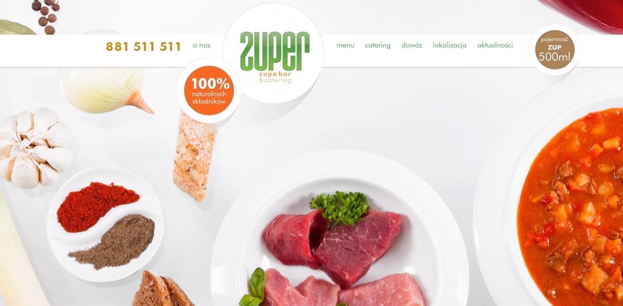 zuper - website layout